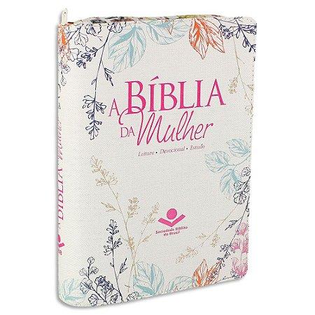 A Bíblia da Mulher capa Florida com Zíper