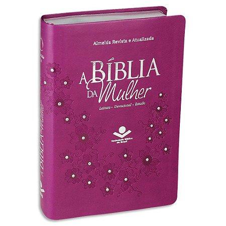 A Bíblia da Mulher RA Média Vinho com Brilho