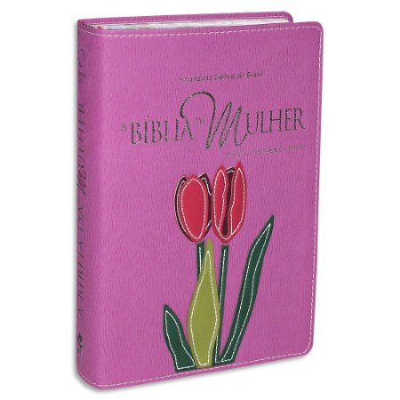 A Bíblia da Mulher RA Média Rosa Orquídea