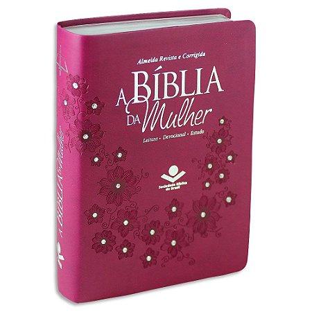 A Bíblia da Mulher capa Vinho com Brilho