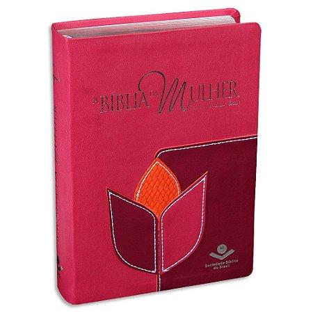 A Bíblia da Mulher RC capa Rosa e Vinho