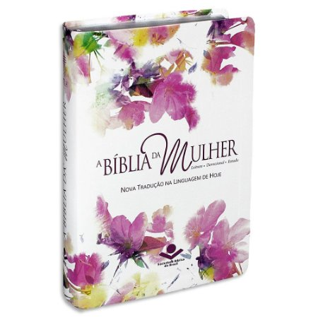 A Bíblia da Mulher NTLH Média capa Branca Aquarela