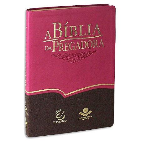 A Bíblia da Pregadora Capa Rosa e Marrom Luxo