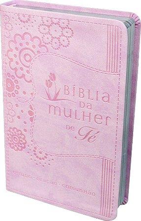 Bíblia da Mulher de Fé tradução NVI capa Rosa