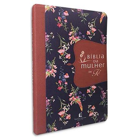 Bíblia da Mulher de Fé tradução NVI capa Flores