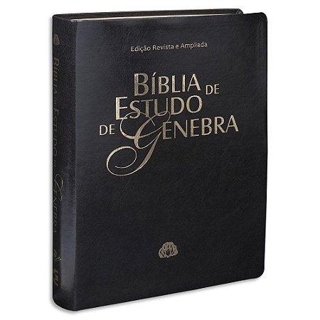 Bíblia de Estudo de Genebra RA capa Preta