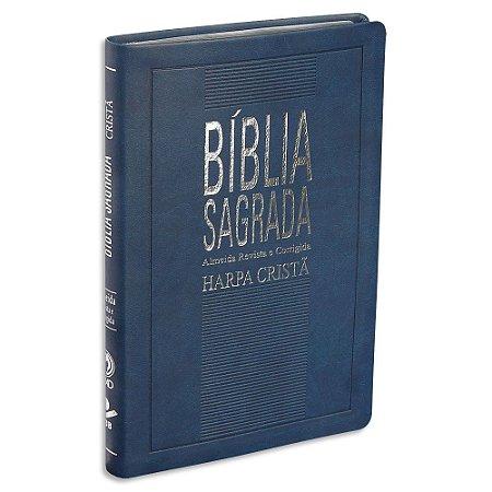 Bíblia com Harpa RC capa Azul