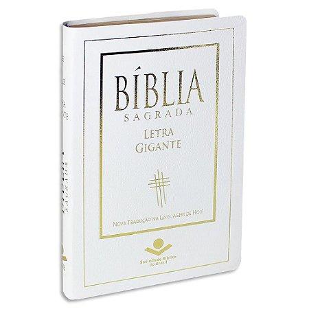 Bíblia Feminina capa Branca NTLH com Letra Gigante