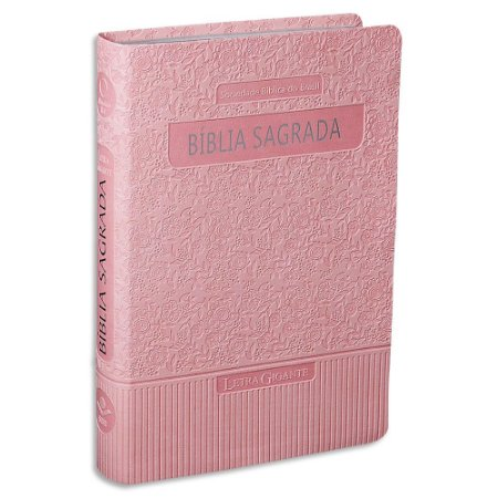 Bíblia Sagrada da Mulher RA Letra Gigante capa rosa