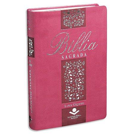 Bíblia Sagrada da Mulher RA Letra Gigante capa Pink