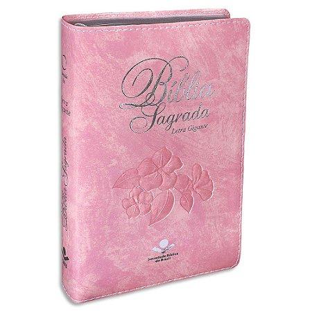 Bíblia Sagrada da Mulher RA Letra Gigante capa Rosa Nobre
