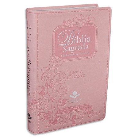 Bíblia Feminina Letra Gigante RC capa Rosa