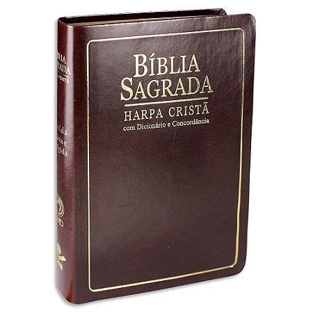 Bíblia com Harpa Letra Grande RC capa Marrom