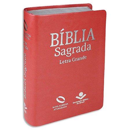 Bíblia Letra Grande NAA capa Pessego sem índice