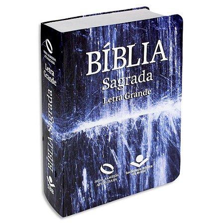 Bíblia Letra Grande NAA capa semiflexível Água