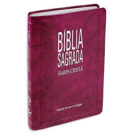 Bíblia com Harpa SLIM Púrpura