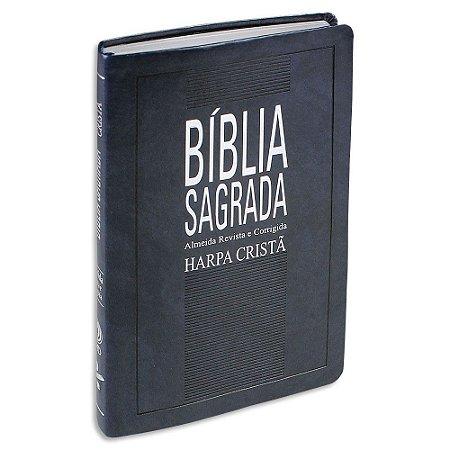 Bíblia com Harpa SLIM Azul