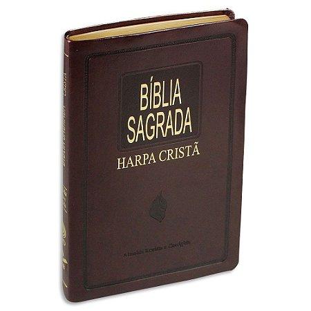 Bíblia com Harpa SLIM Marrom