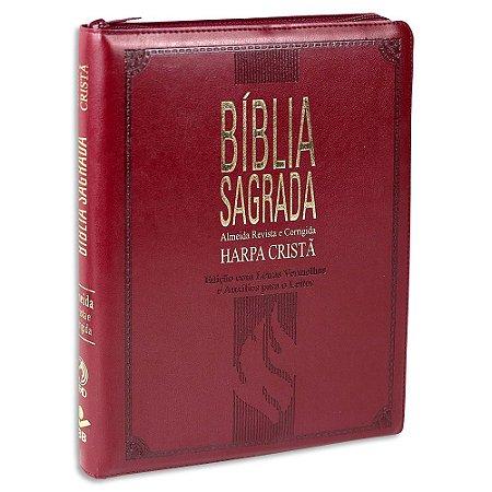 Bíblia com Harpa Letras Gigantes Vinho