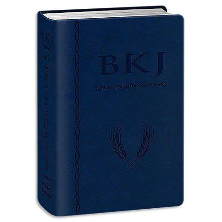 Bíblia de Estudo King James 1611 Azul com Estudos Holman