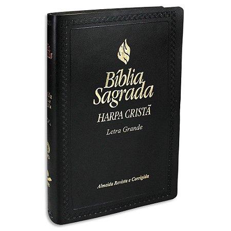 Bíblia com Harpa Letra Grande RC Preta