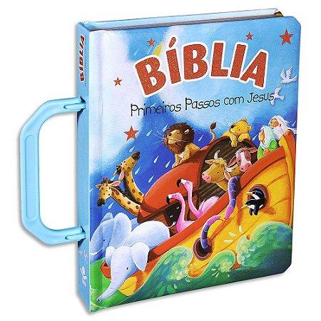 Bíblia Infantil Primeiros Passos com Jesus Azul