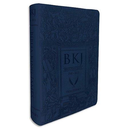 Bíblia King James Letra Ultra Gigante Azul