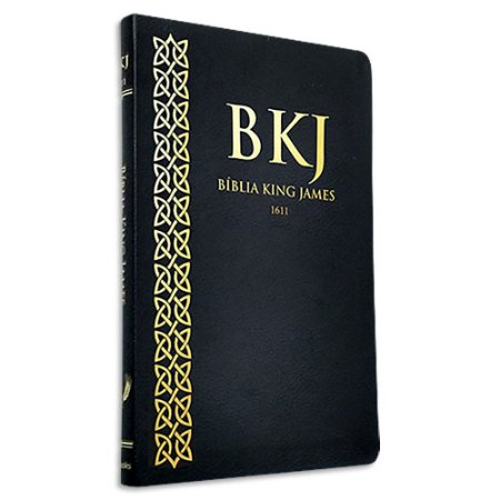 Bíblia King James 1611 Ultrafina capa Preta