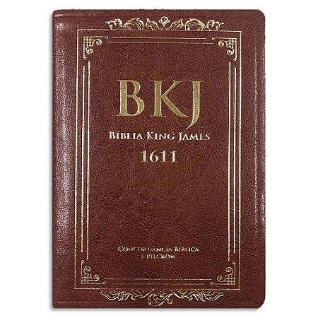 Bíblia King James 1611 Marrom com Concordância e Pilcrow