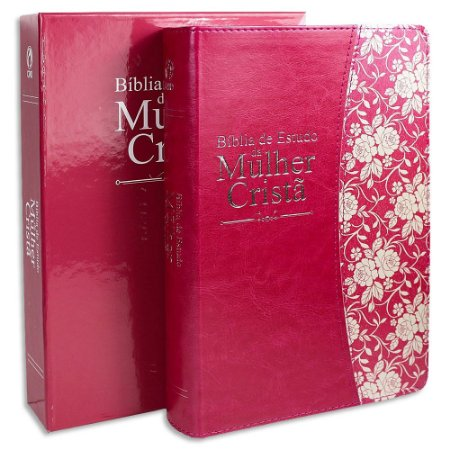 Bíblia de Estudo da Mulher Cristã capa Pink