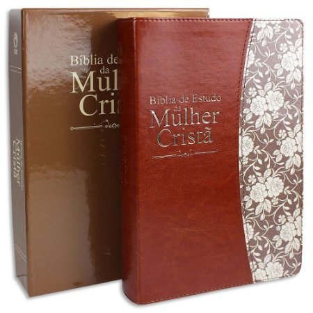 Bíblia de Estudo da Mulher Cristã capa Marrom