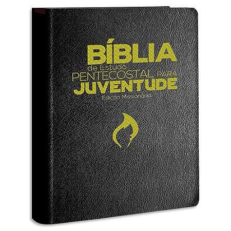 Bíblia de Estudo Pentecostal para Juventude capa Preta