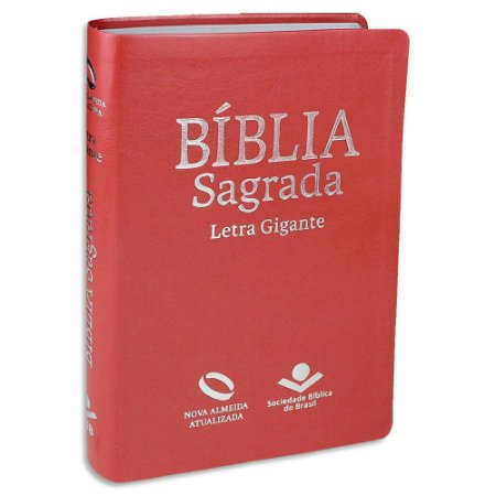 Bíblia Letra Gigante NAA com índice Pêssego