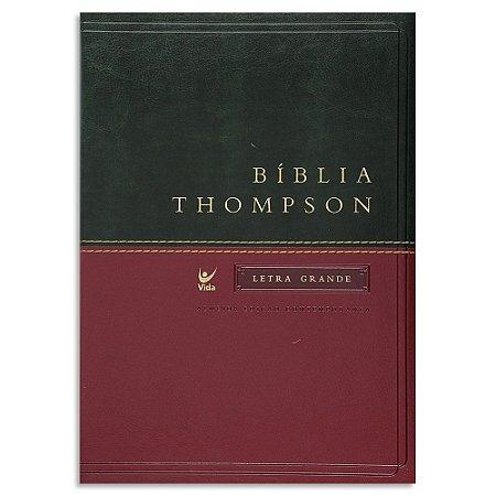 Bíblia Thompson Letra Grande Verde e Vinho