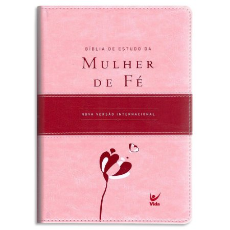 Bíblia de Estudo da Mulher de Fé Rosa