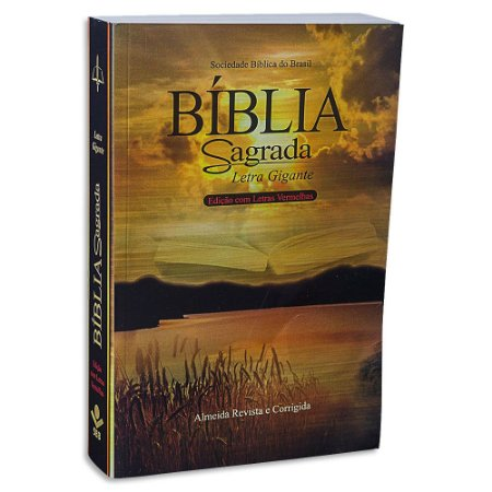 Bíblia Letra Gigante Revista e Corrigida capa Ilustrada