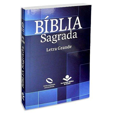 Bíblia Sagrada Letra Grande NAA Azul