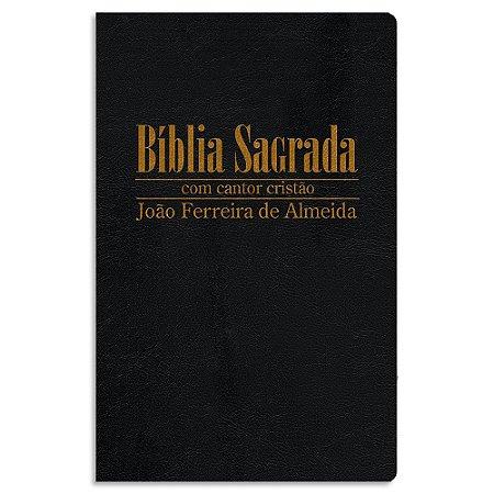 Bíblia com Cantor Cristão RC Média Preta