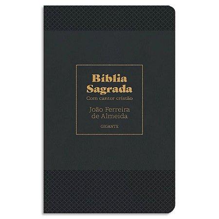 Bíblia Letra Gigante com Cantor Cristão Preta