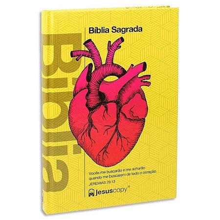 Bíblia Nova Almeida Atualizada Coração Amarela