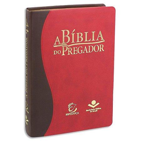 Bíblia do Pregador Almeida Corrigida Bicolor Marrom e Vermelha
