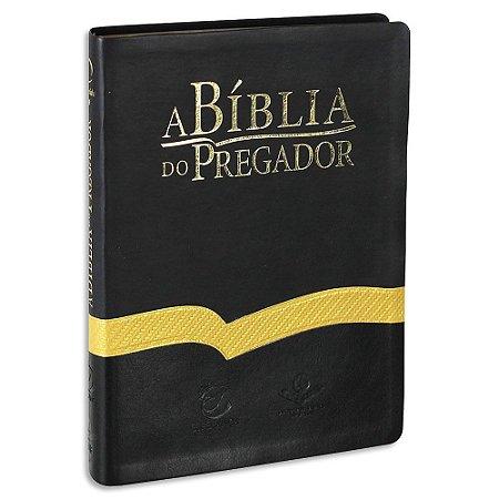 Bíblia do Pregador Almeida Revista e Atualizada Bicolor Preta