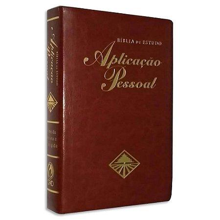 Bíblia de Estudo Aplicação Pessoal Média Vinho