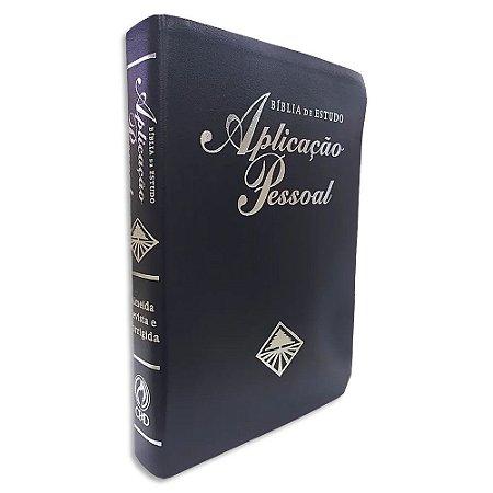Bíblia de Estudo Aplicação Pessoal Grande Azul