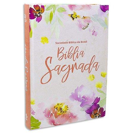 Bíblia Sagrada Letra Grande NAA Floral