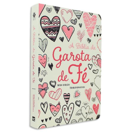 Bíblia da Garota de Fé NVT capa Corações