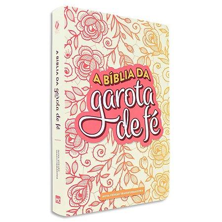 Bíblia da Garota de Fé NVT capa Rosas