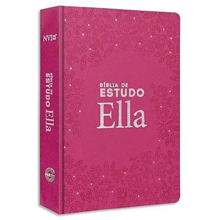 Bíblia Ella de Estudo NVI Rosa