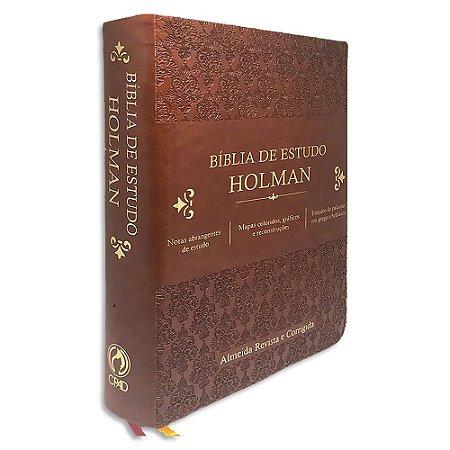 Bíblia de Estudo Holman RC Marrom