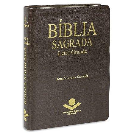 Bíblia Sagrada Letra Grande ARC Média Marrom